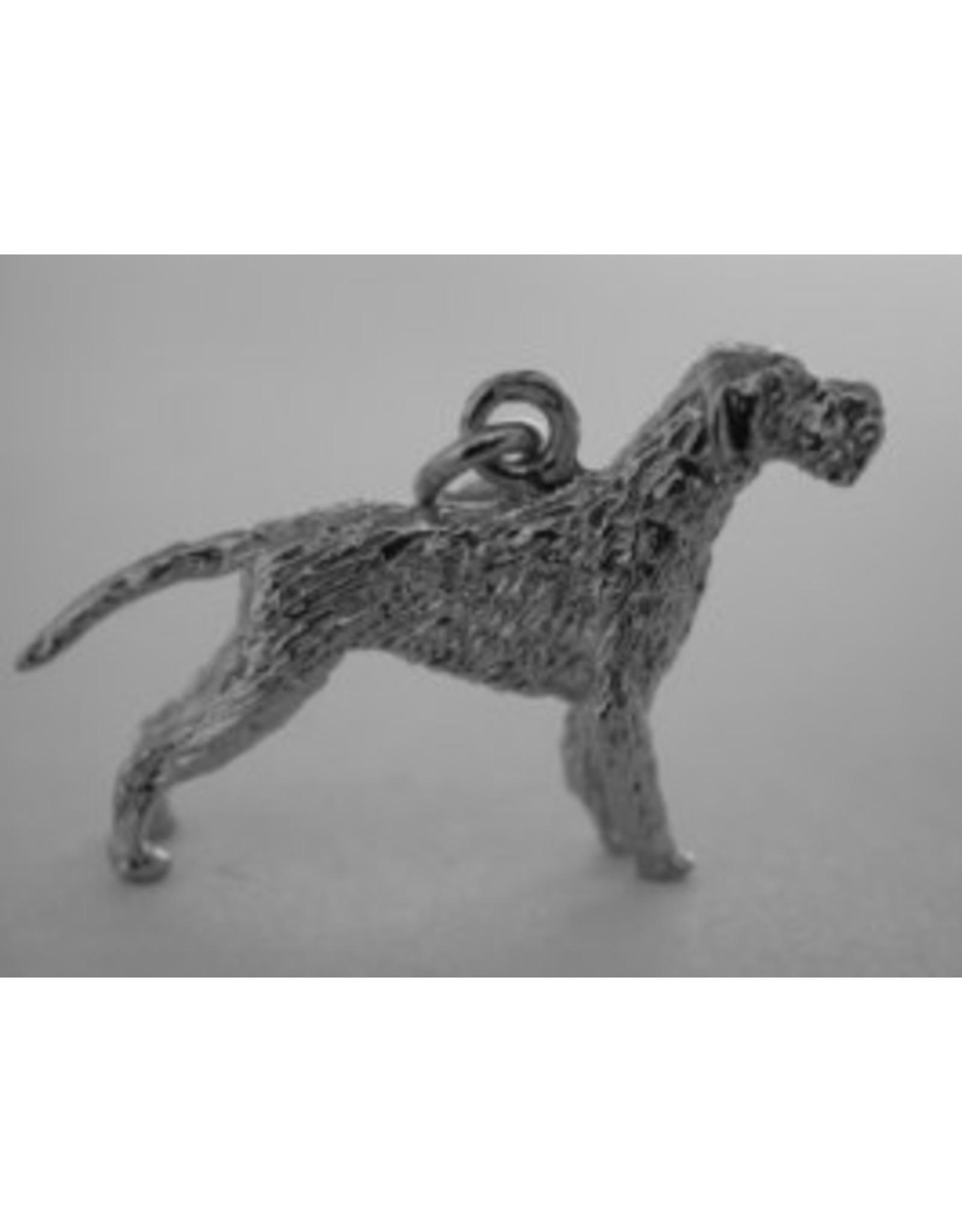 Handmade by Hanneke Weigel Sterling silver German pointer wire haired