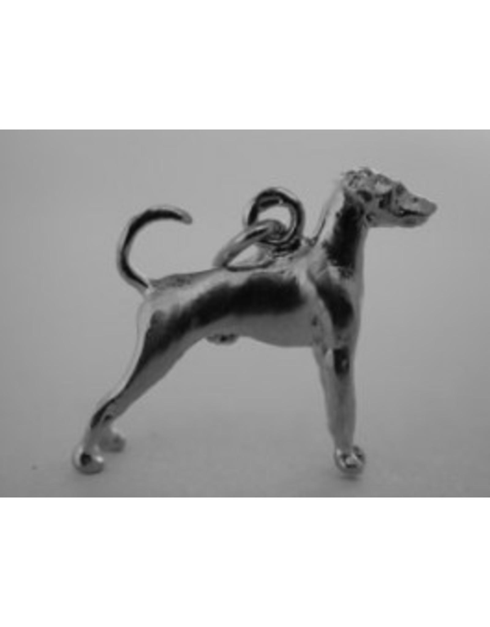 Handmade by Hanneke Weigel Zilveren Duitse pinscher