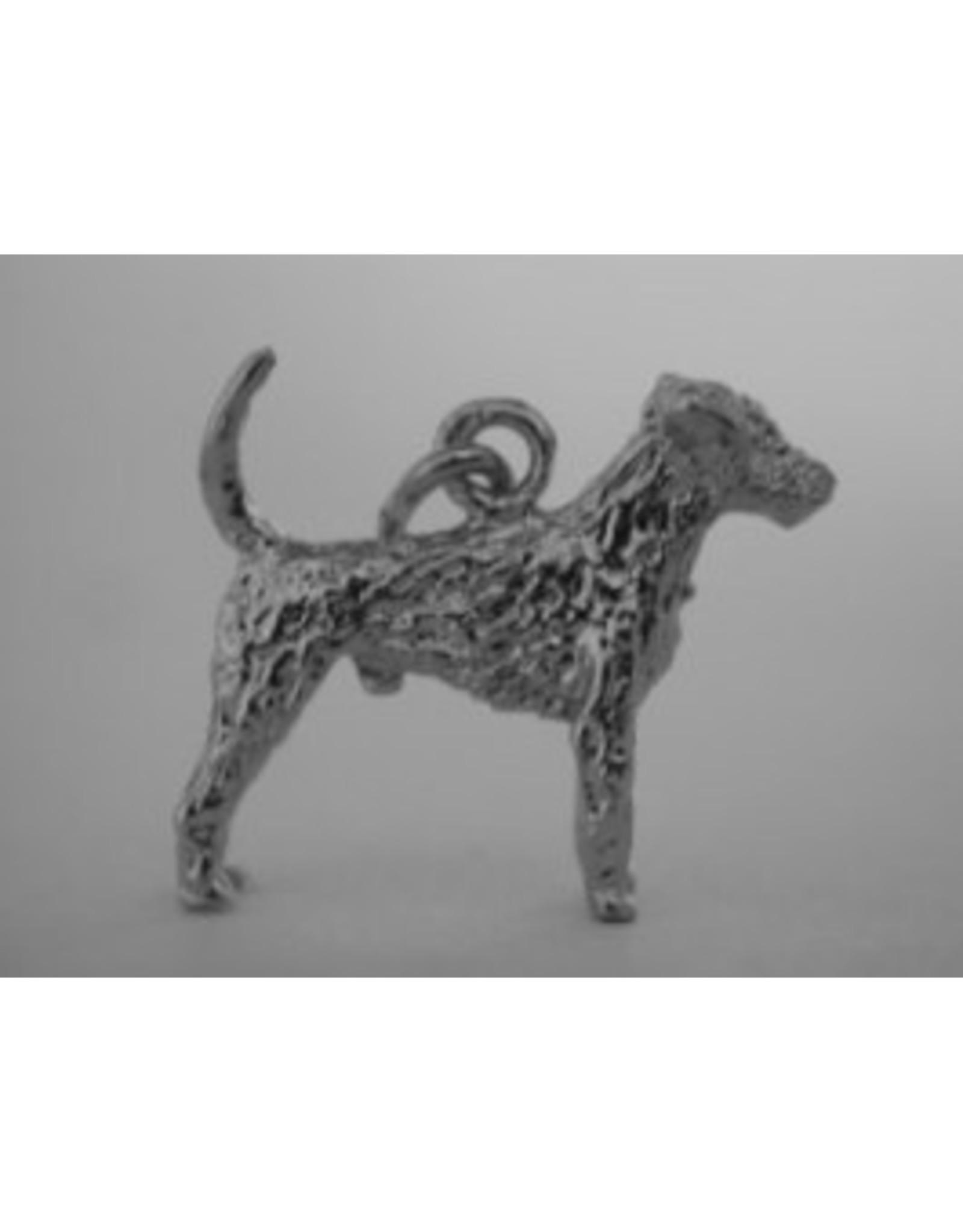 Handmade by Hanneke Weigel Sterling silver German hunting terrier
