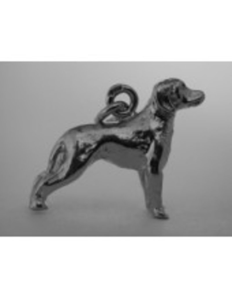 Handmade by Hanneke Weigel Sterling silver German hound dog