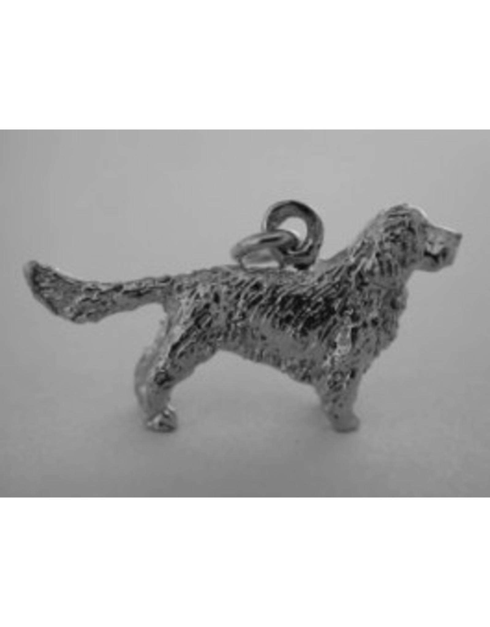Handmade by Hanneke Weigel Sterling silver Clumber spaniel