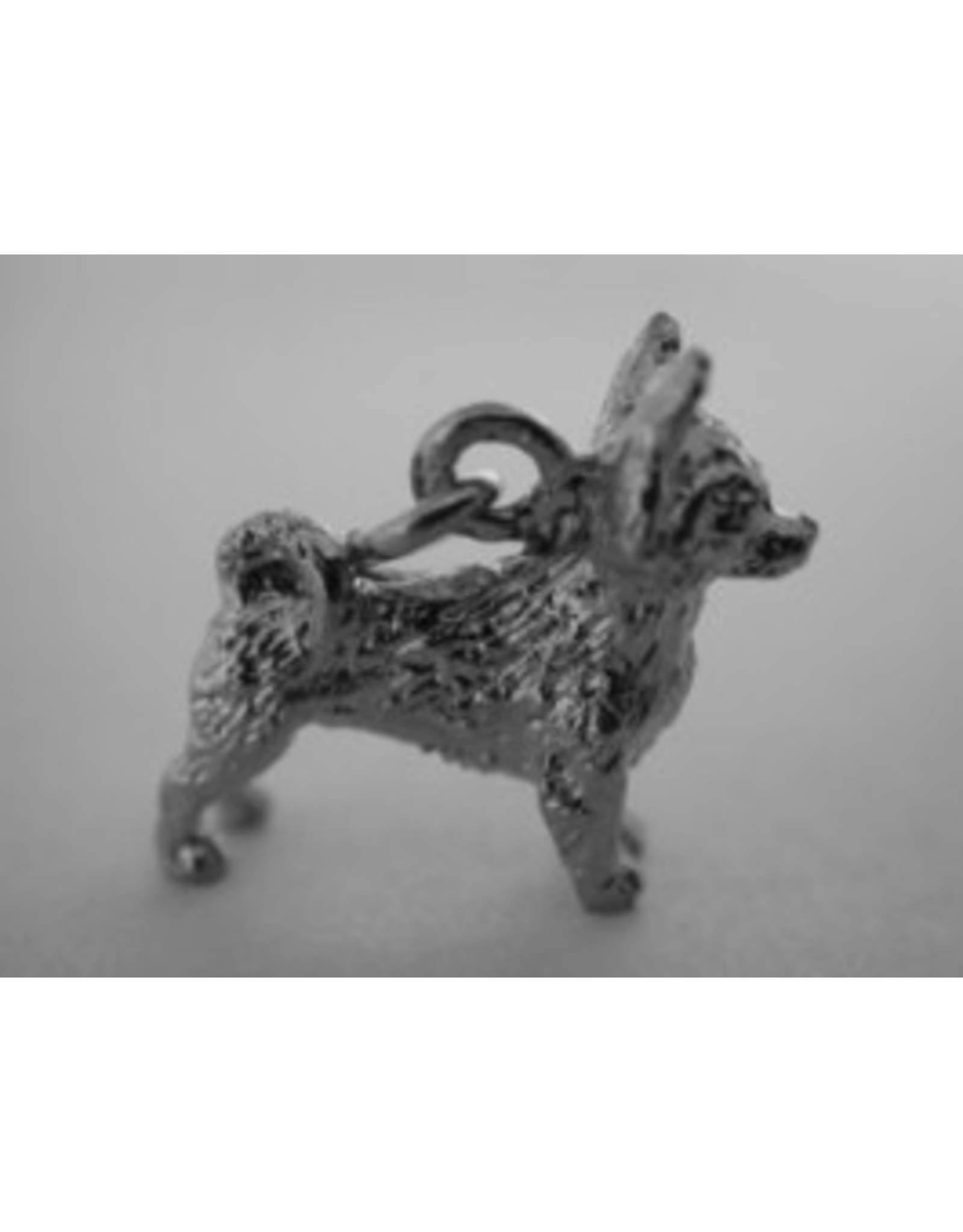 Handmade by Hanneke Weigel Sterling silver Chihuahua long haired