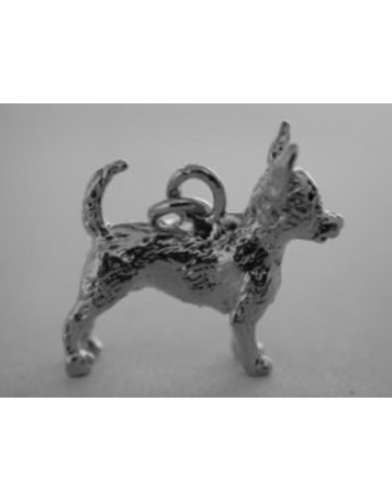 Handmade by Hanneke Weigel Zilveren Chihuahua korthaar