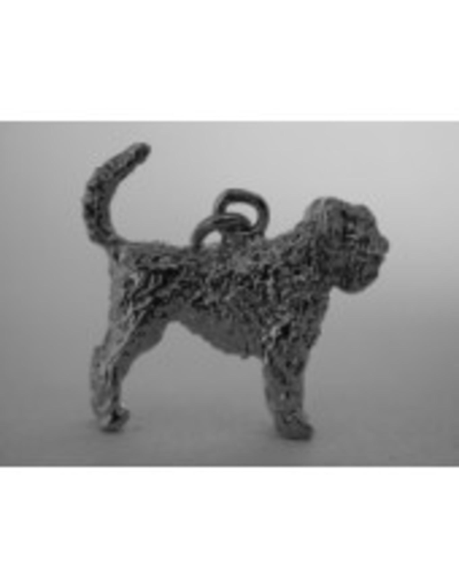 Handmade by Hanneke Weigel Sterling silver Bouvier Des Flandres tail up