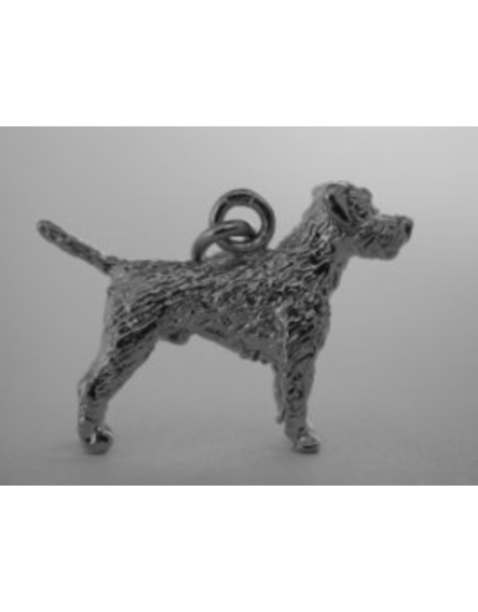 Handmade by Hanneke Weigel Zilveren Border terrier