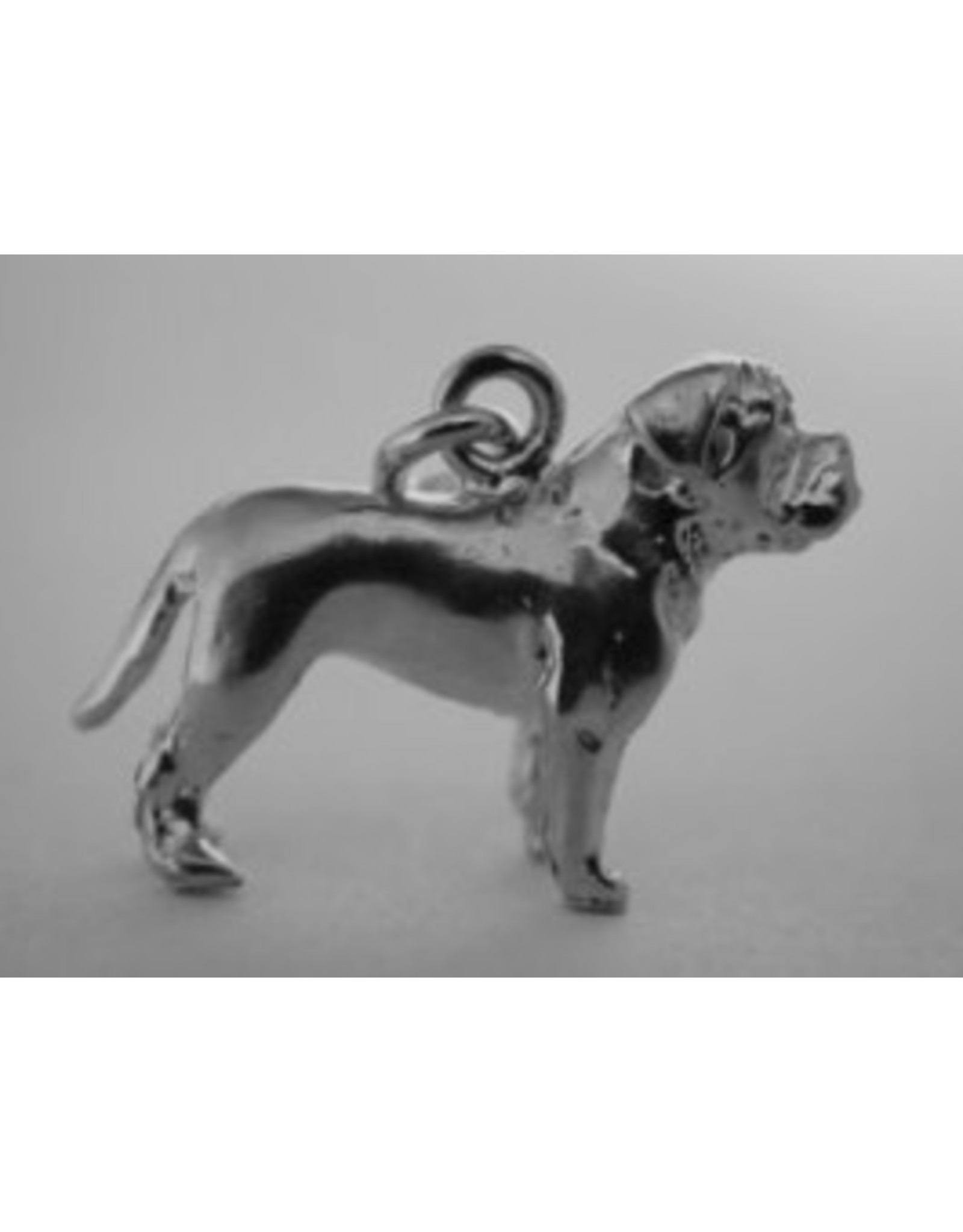 Handmade by Hanneke Weigel Zilveren bordeaux dog