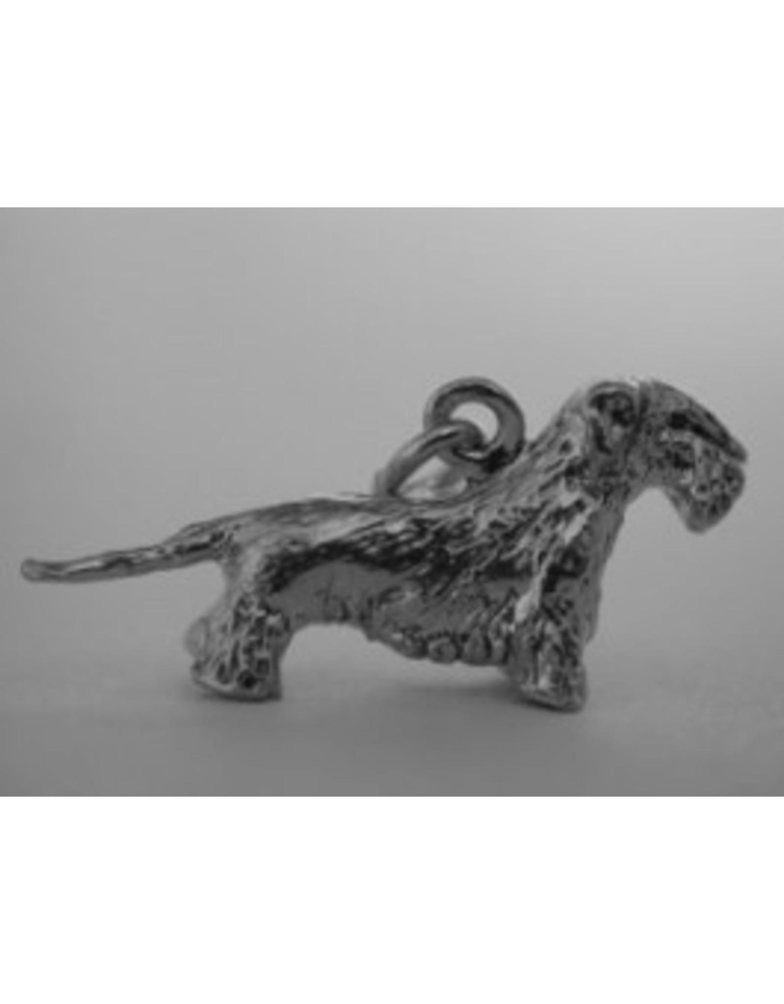 Handmade by Hanneke Weigel Sterling silver Bohemian terrier (Cesky)