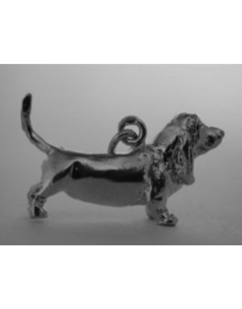 Handmade by Hanneke Weigel Sterling silver Basser hound