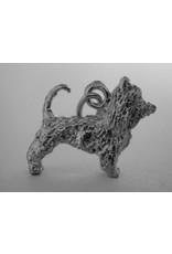 Handmade by Hanneke Weigel Sterling silver australian silky terrier