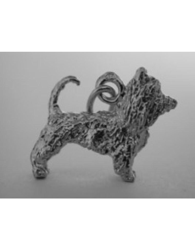 Handmade by Hanneke Weigel Zilveren australische silky terrier