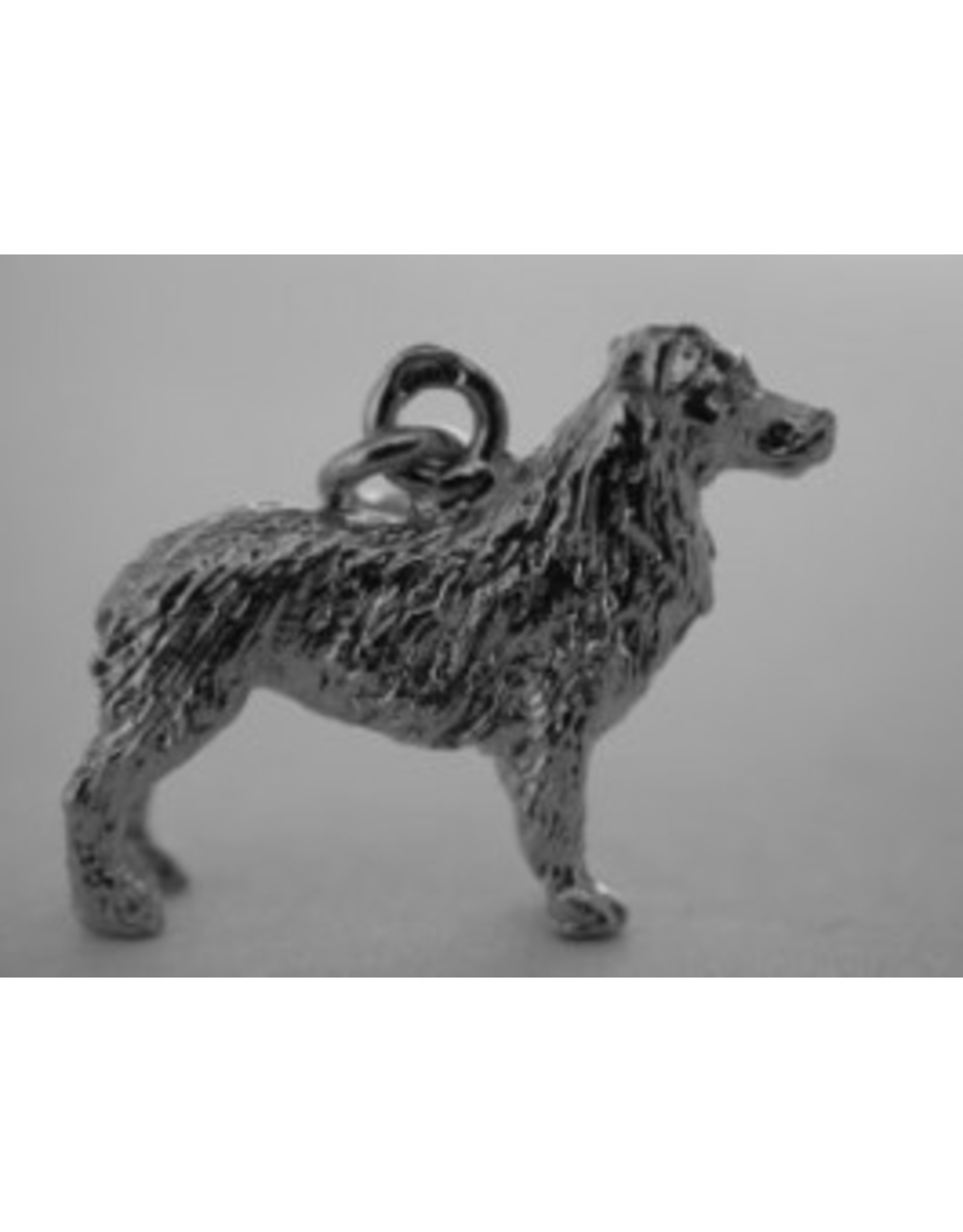 Handmade by Hanneke Weigel Sterling silver australian shepherd NBT