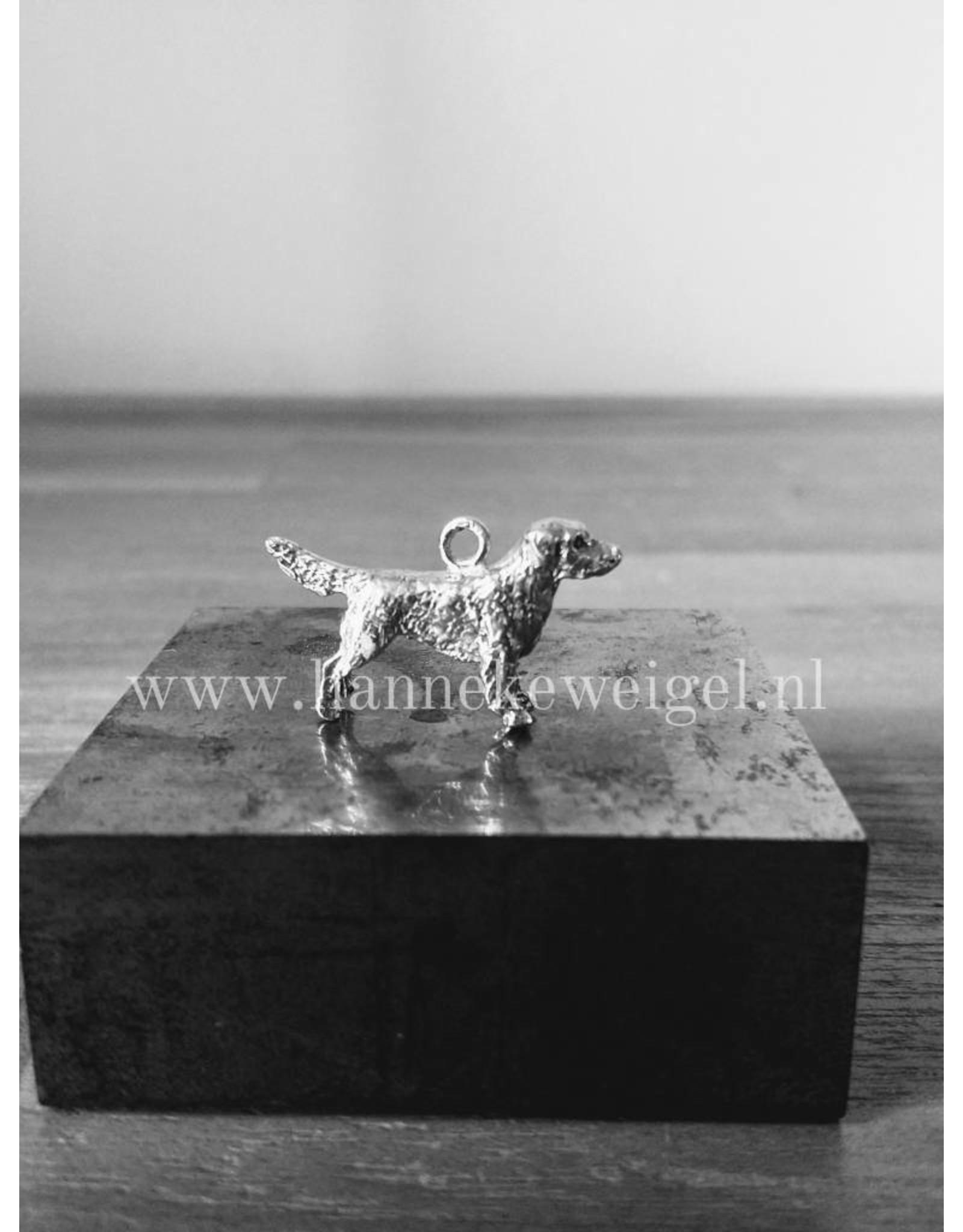 Handmade by Hanneke Weigel Zilveren Flatcoated retriever