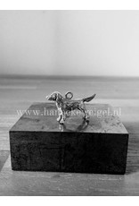 Handmade by Hanneke Weigel Sterling silver Flatcoated retriever