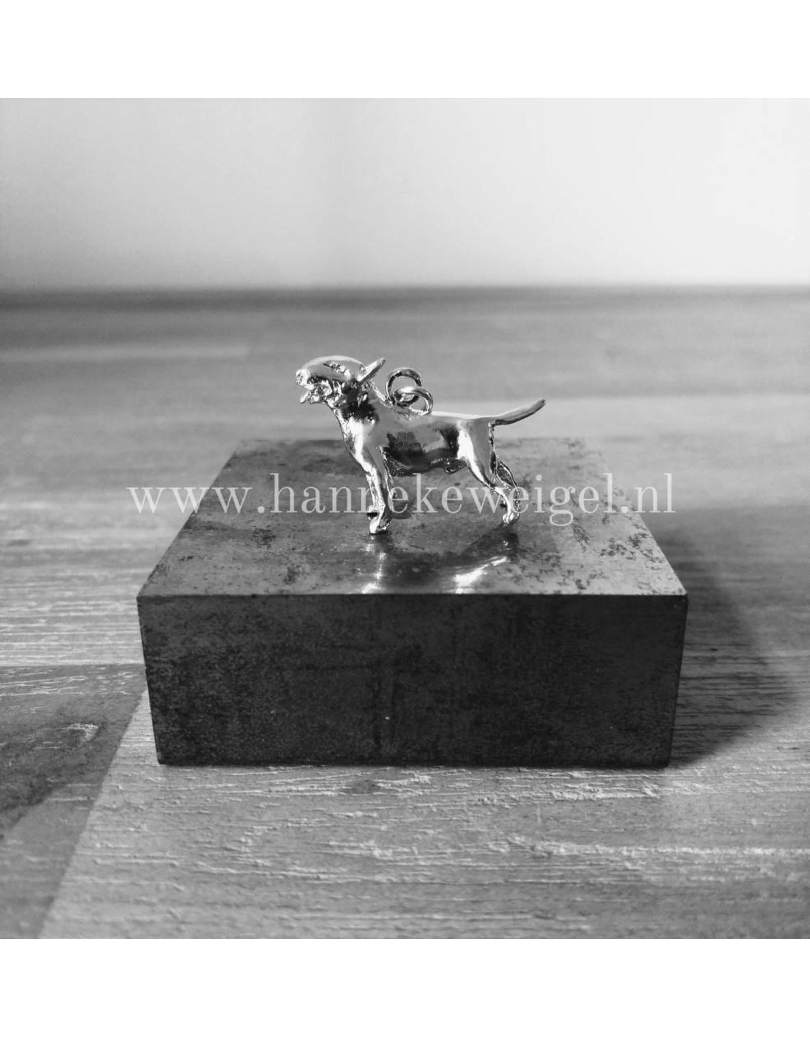 Handmade by Hanneke Weigel Zilveren Bull terrier