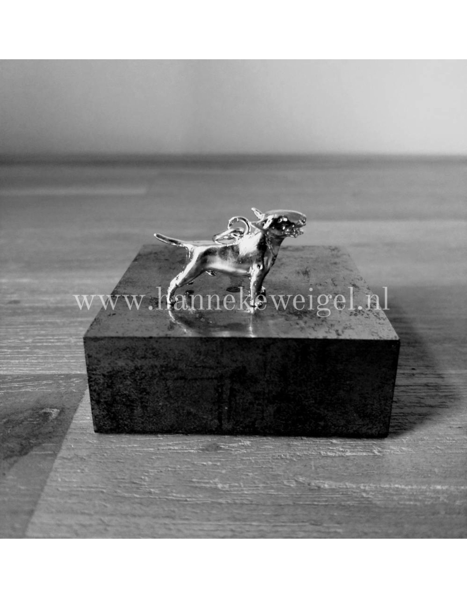 Handmade by Hanneke Weigel Sterling silver Bull terrier