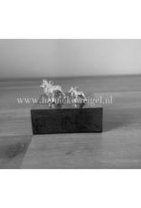 Handmade by Hanneke Weigel Sterling silver Dutch shepherd longhaired