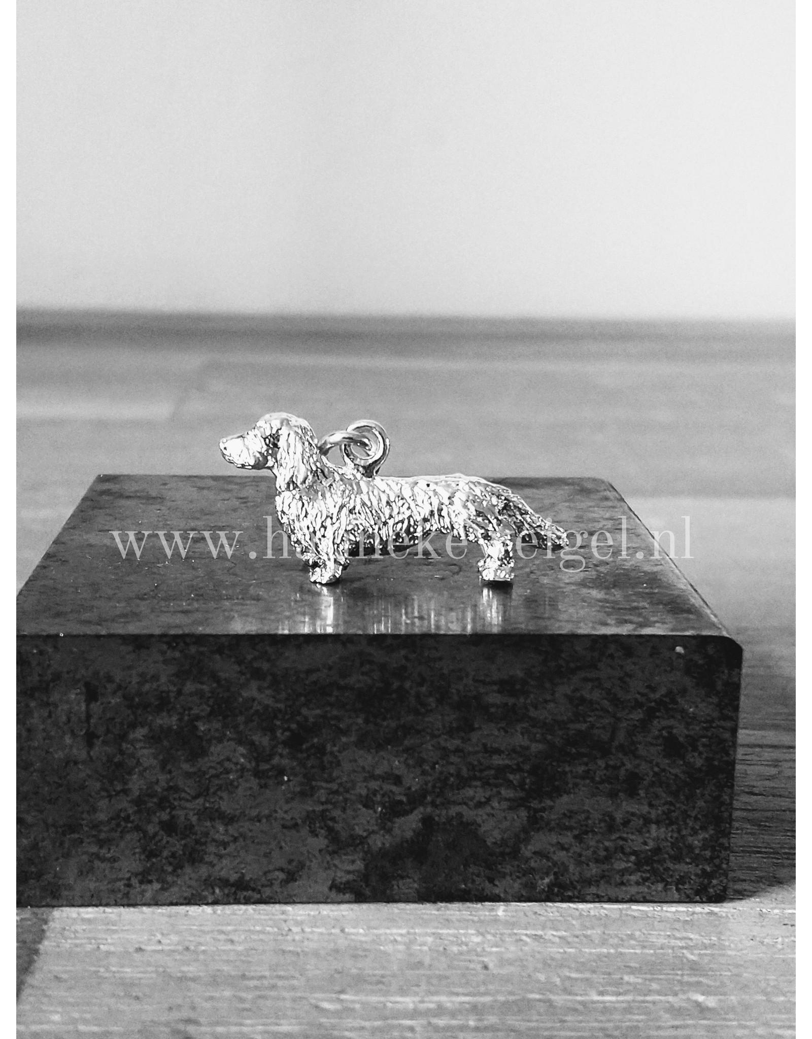 Handmade by Hanneke Weigel Zilveren teckel langhaar