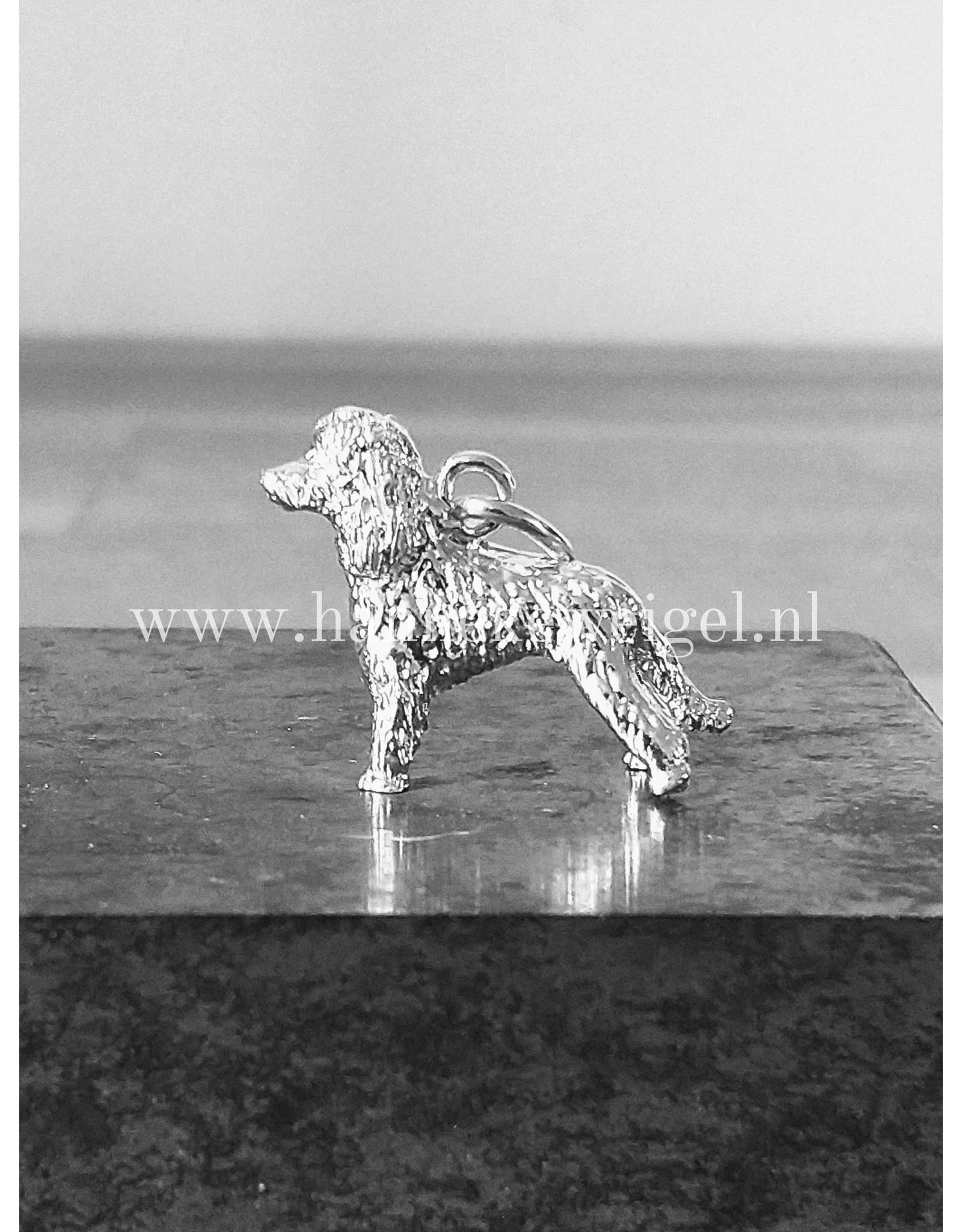 Handmade by Hanneke Weigel Zilveren Poedel huishond