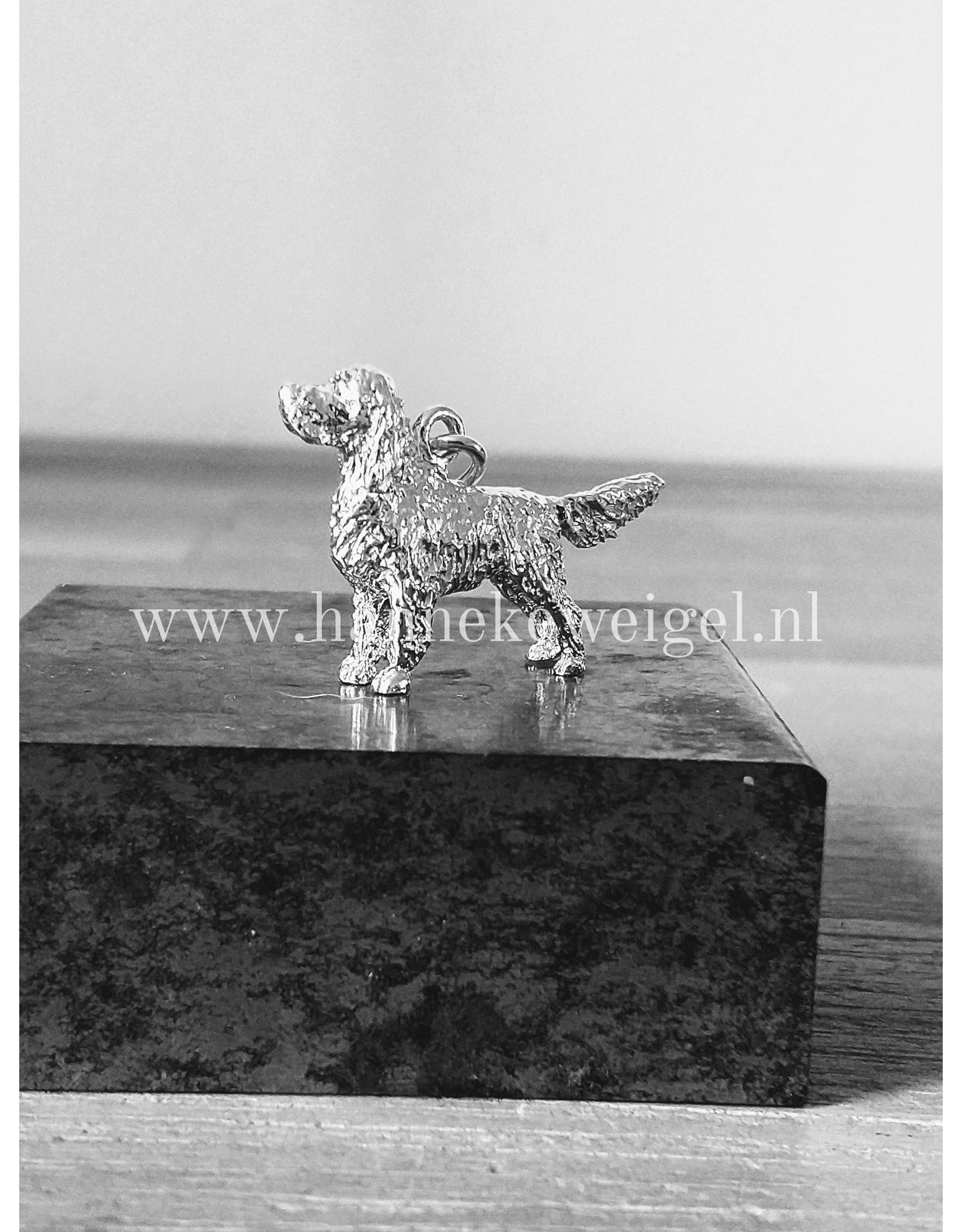 Handmade by Hanneke Weigel Sterling silver English springer spaniel