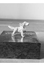 Handmade by Hanneke Weigel Zilveren Welsh springer spaniel