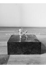 Handmade by Hanneke Weigel Sterling silver Standard poodle continental clip