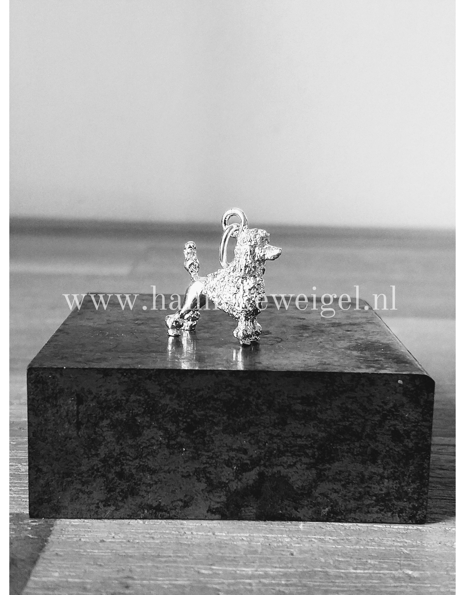Handmade by Hanneke Weigel Sterling silver Poodle miniature