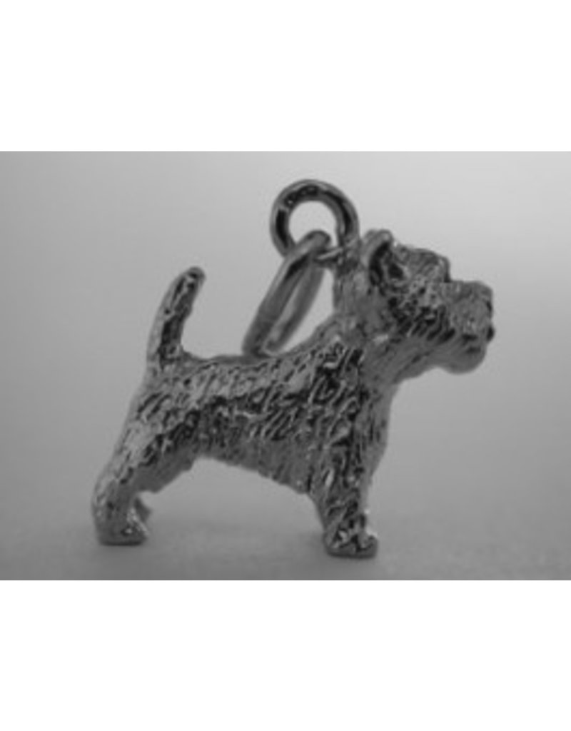Handmade by Hanneke Weigel Zilveren West highland white terrier minder beharing