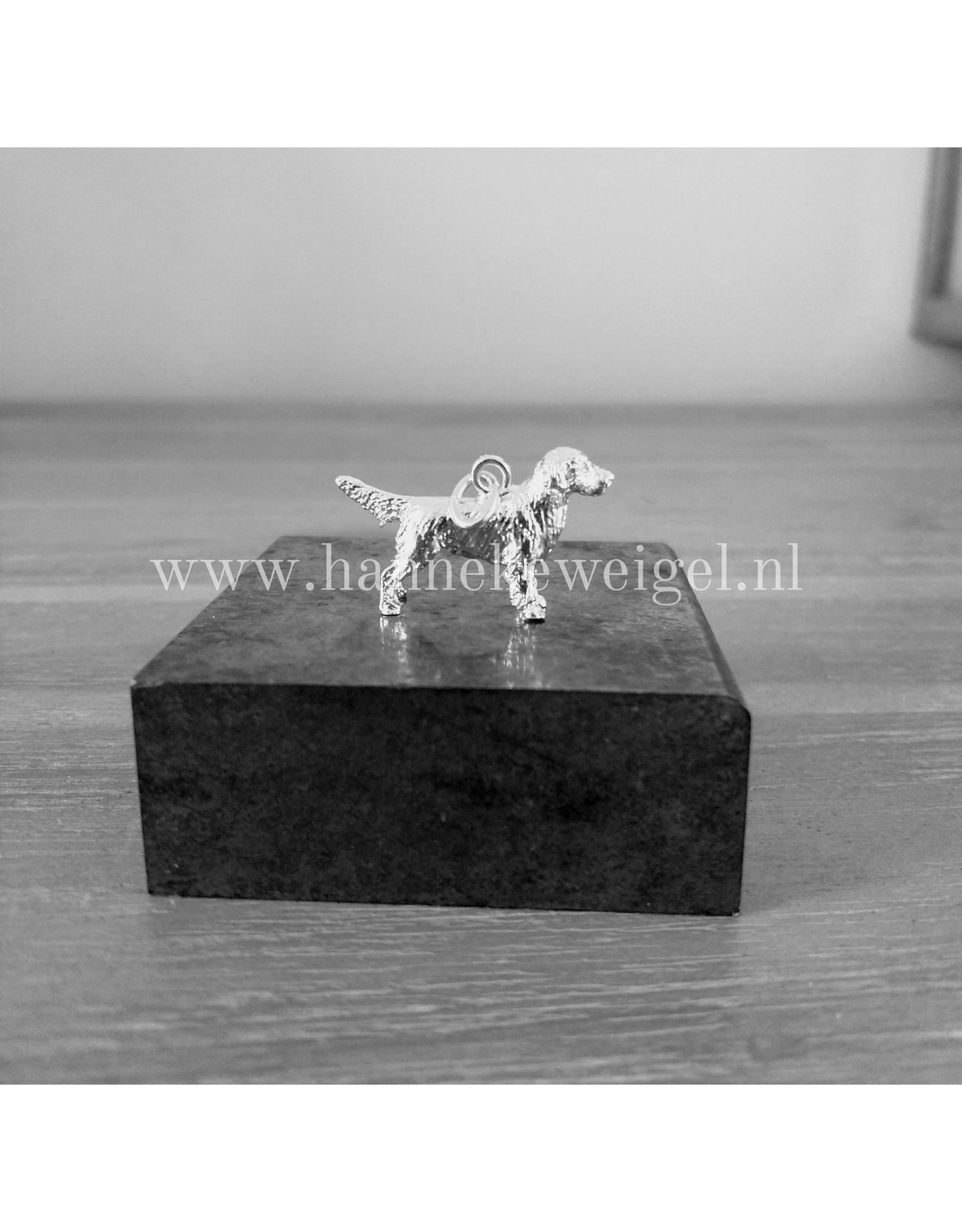 Handmade by Hanneke Weigel Sterling silver Golden retriever