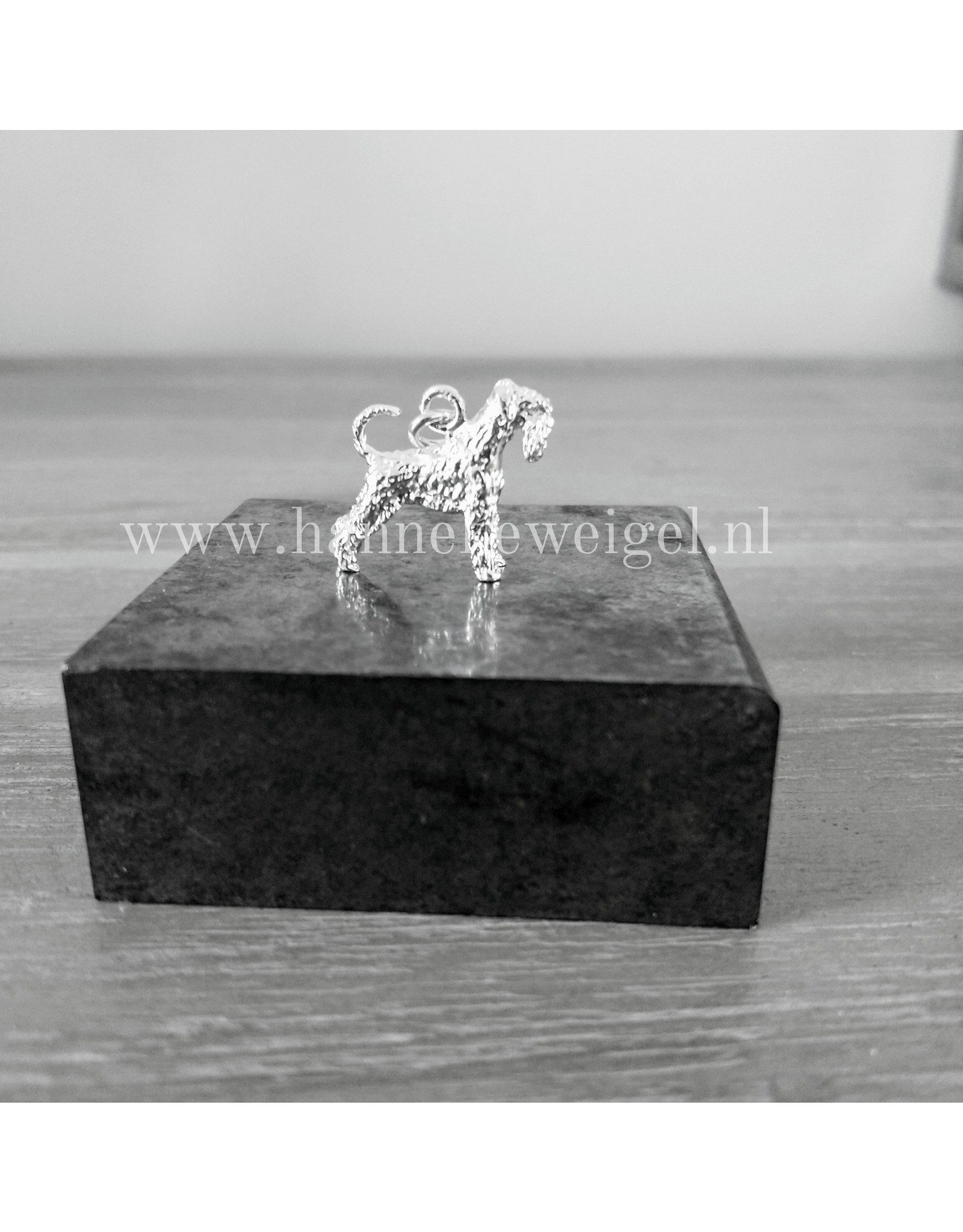 Handmade by Hanneke Weigel Sterling silver Giant schnauzer