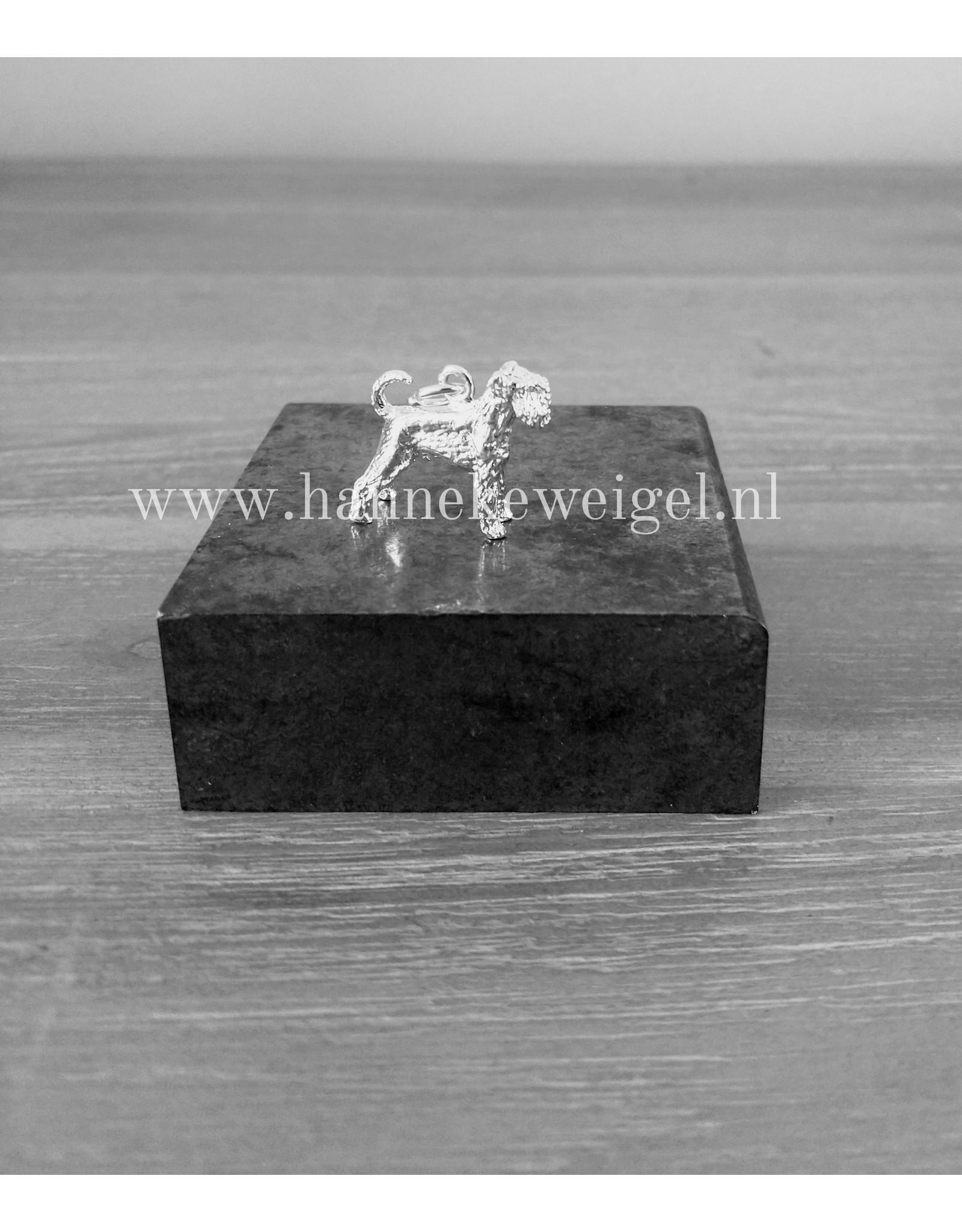 Handmade by Hanneke Weigel Sterling silver Standard schnauzer