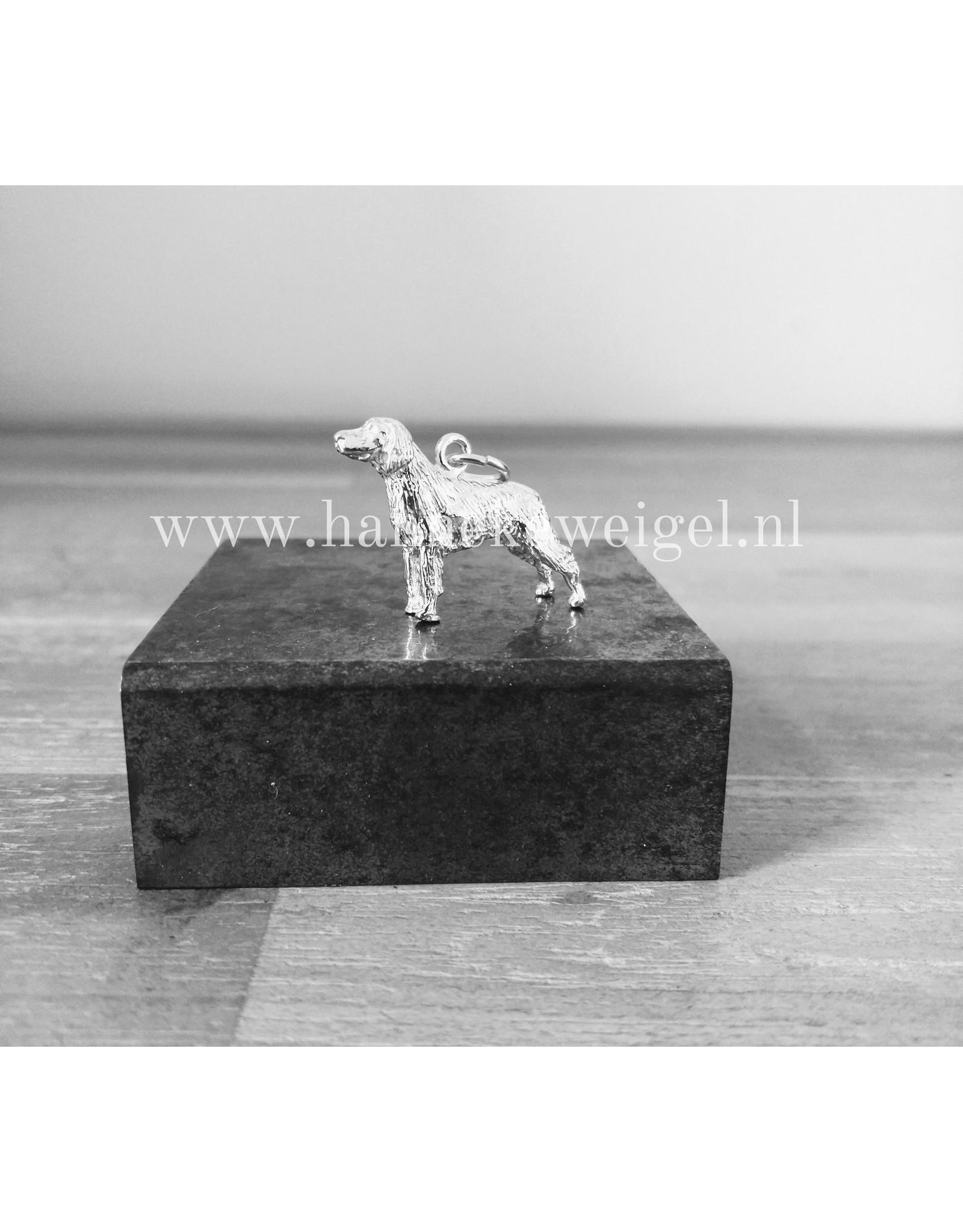 Handmade by Hanneke Weigel Zilveren Duitse staande langhaar