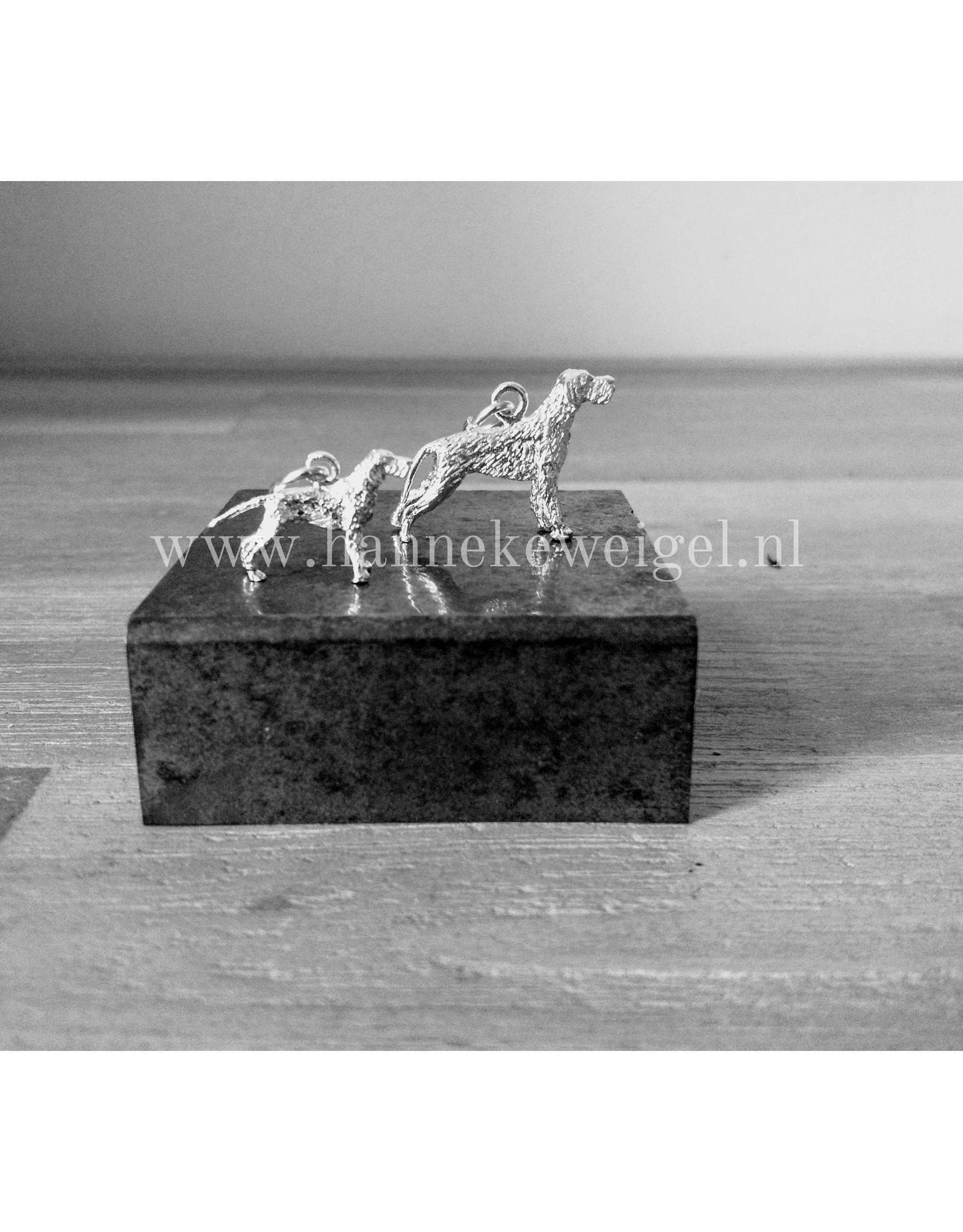 Handmade by Hanneke Weigel Sterling silver Spinone Italiano