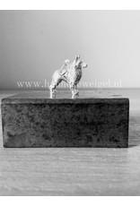 Handmade by Hanneke Weigel Sterling silver Belgian shepherd tervuren