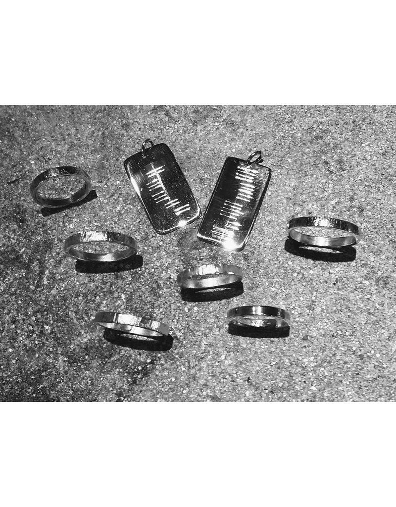 Workshop zilveren ring of hanger