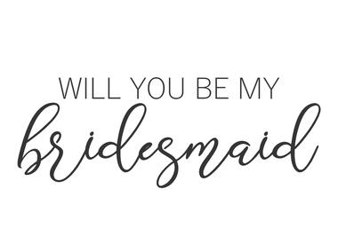 Asking your bridesmaids / groomsmen