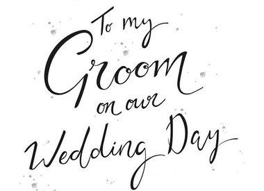 Voor de bruidegom