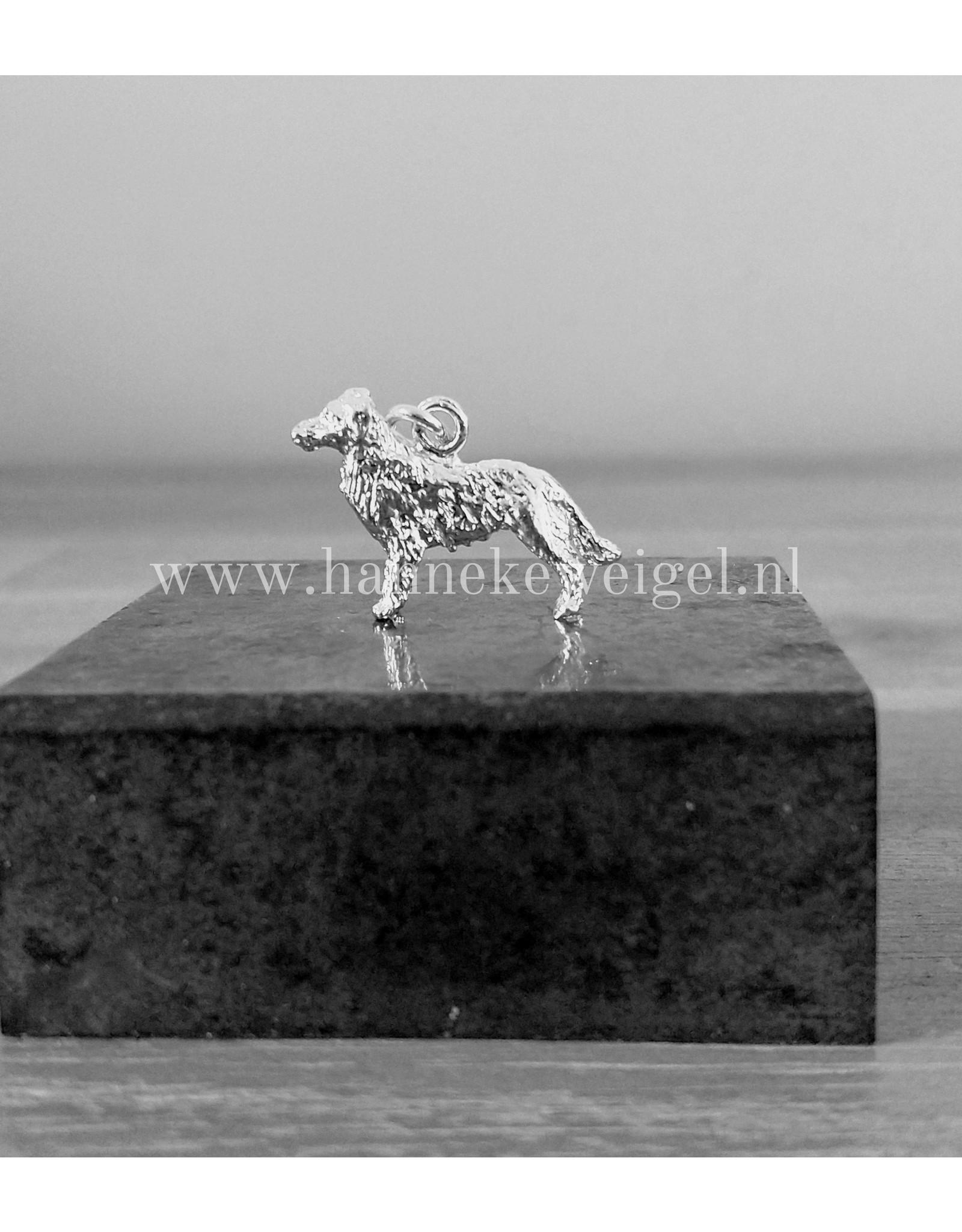 Handmade by Hanneke Weigel Sterling silver australian shepherd