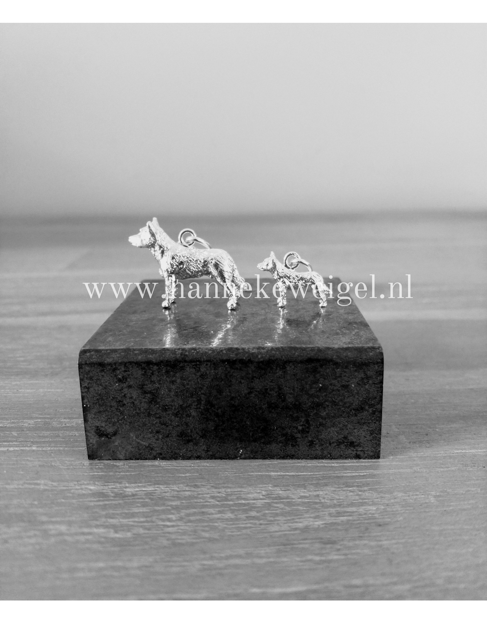 Handmade by Hanneke Weigel Zilveren Cattle dog