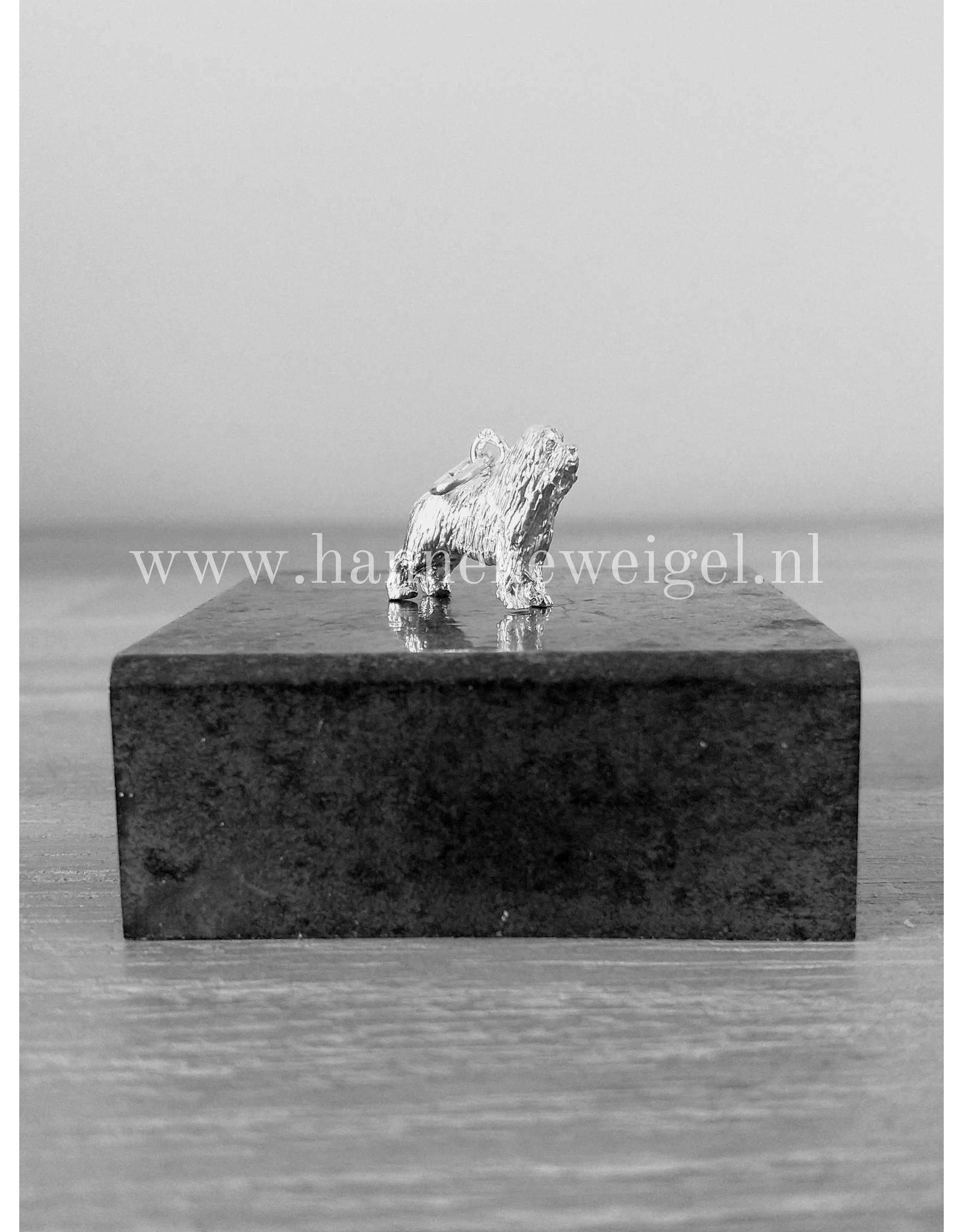 Handmade by Hanneke Weigel Zilveren Bearded collie