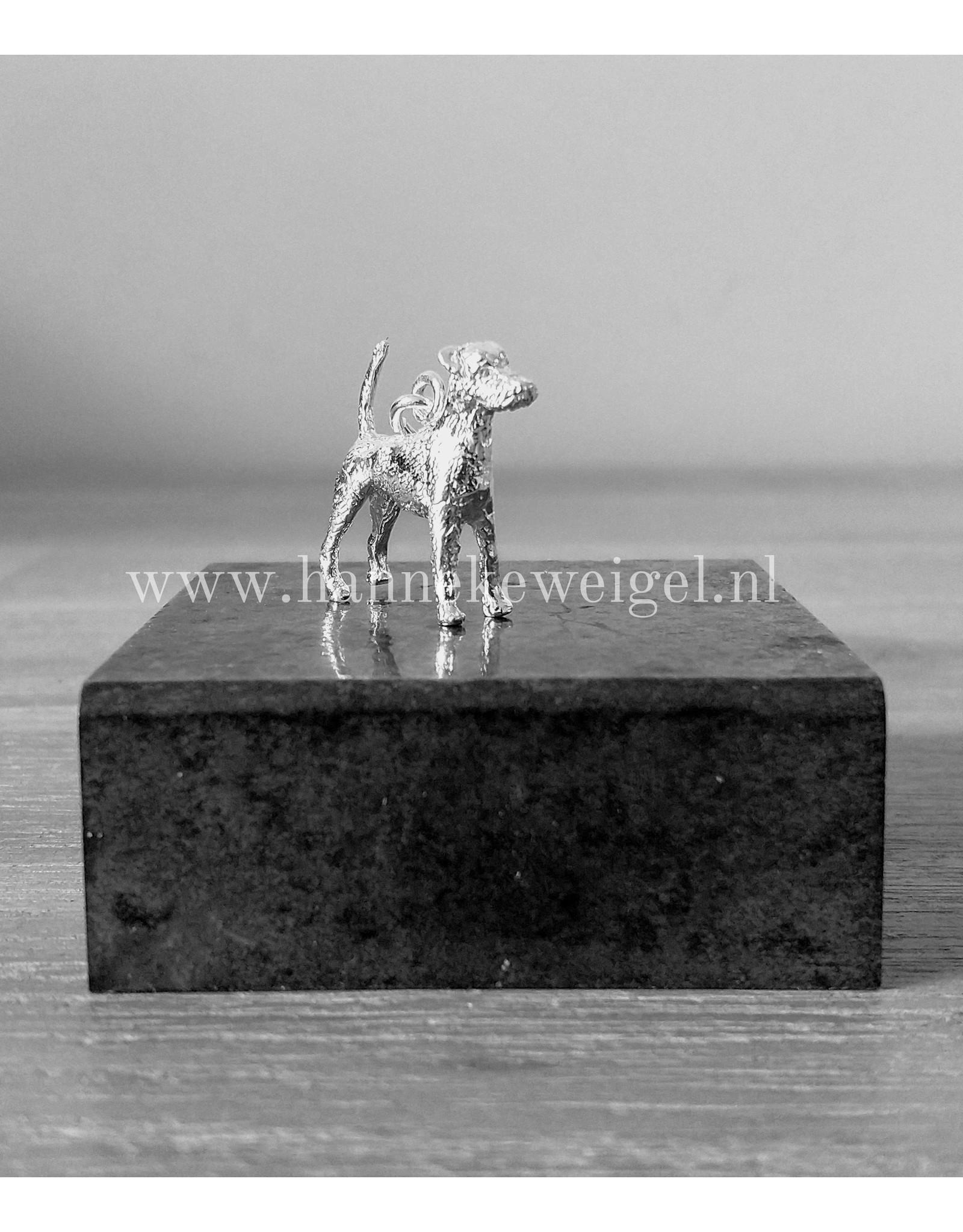 Handmade by Hanneke Weigel Zilveren Parson jack russel terrier gladhaar
