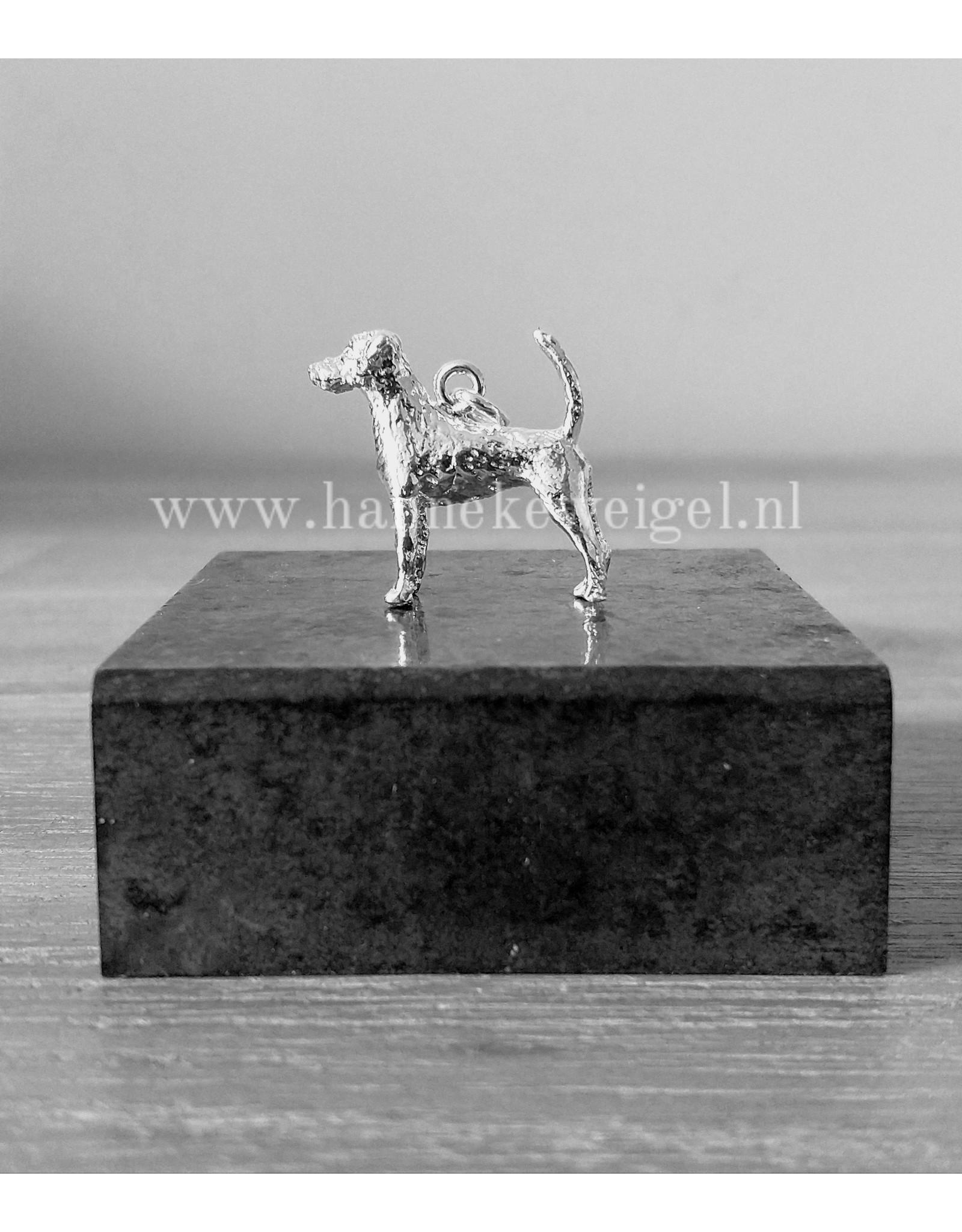 Handmade by Hanneke Weigel Sterling silver Parson jack russel terrier
