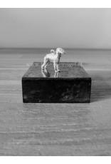 Handmade by Hanneke Weigel Zilveren Bedlington terrier