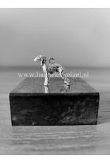 Handmade by Hanneke Weigel Sterling silver Bedlington terrier