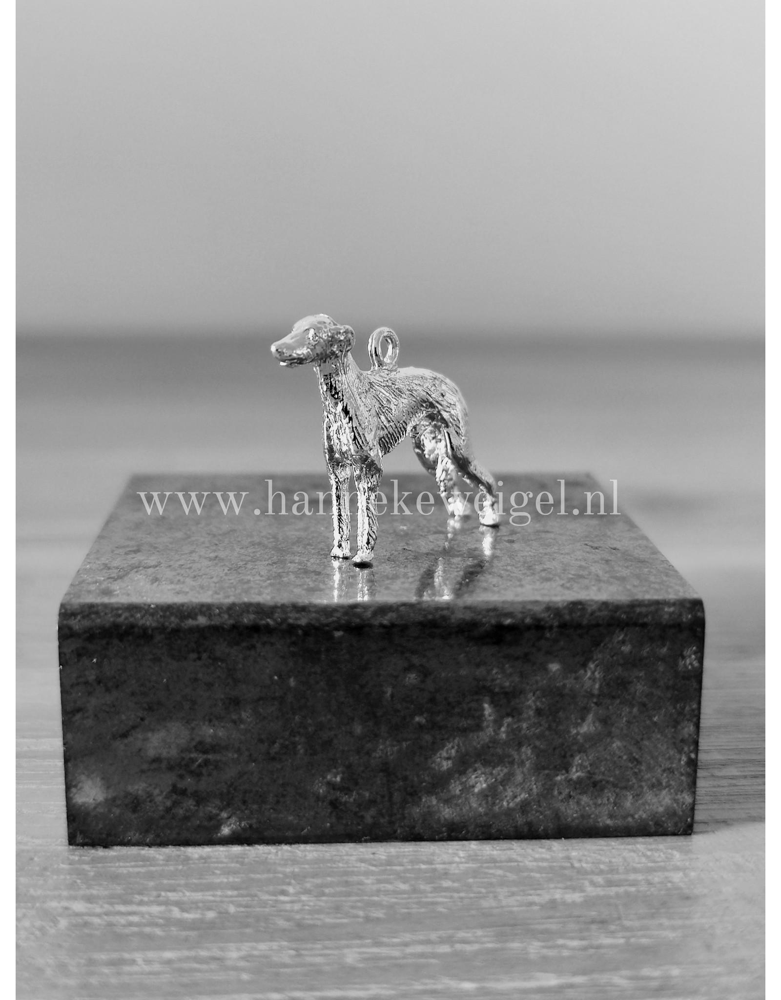Handmade by Hanneke Weigel Zilveren Galgo espanol ruwhaar