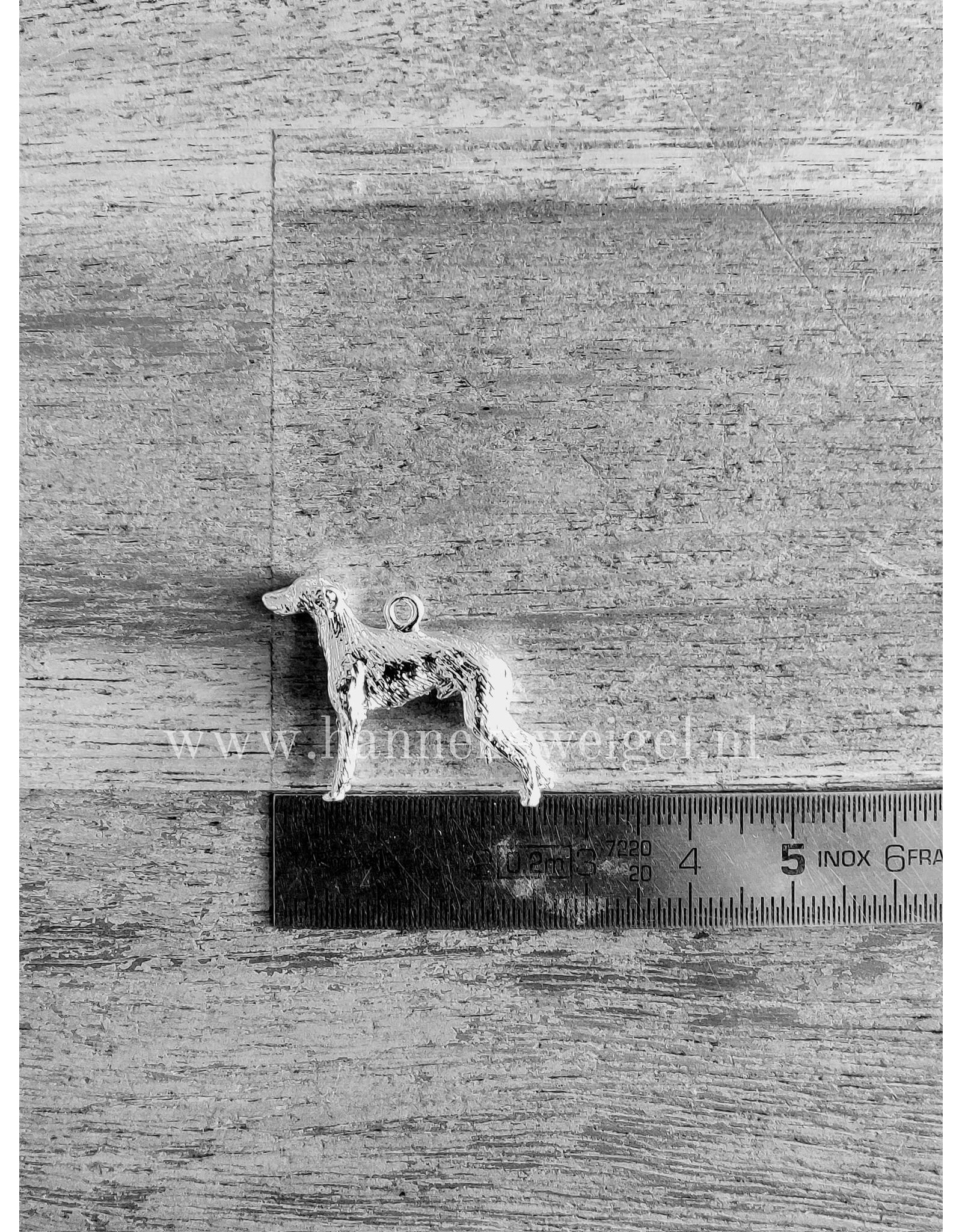 Handmade by Hanneke Weigel Sterling silver Galgo espanol rough haired