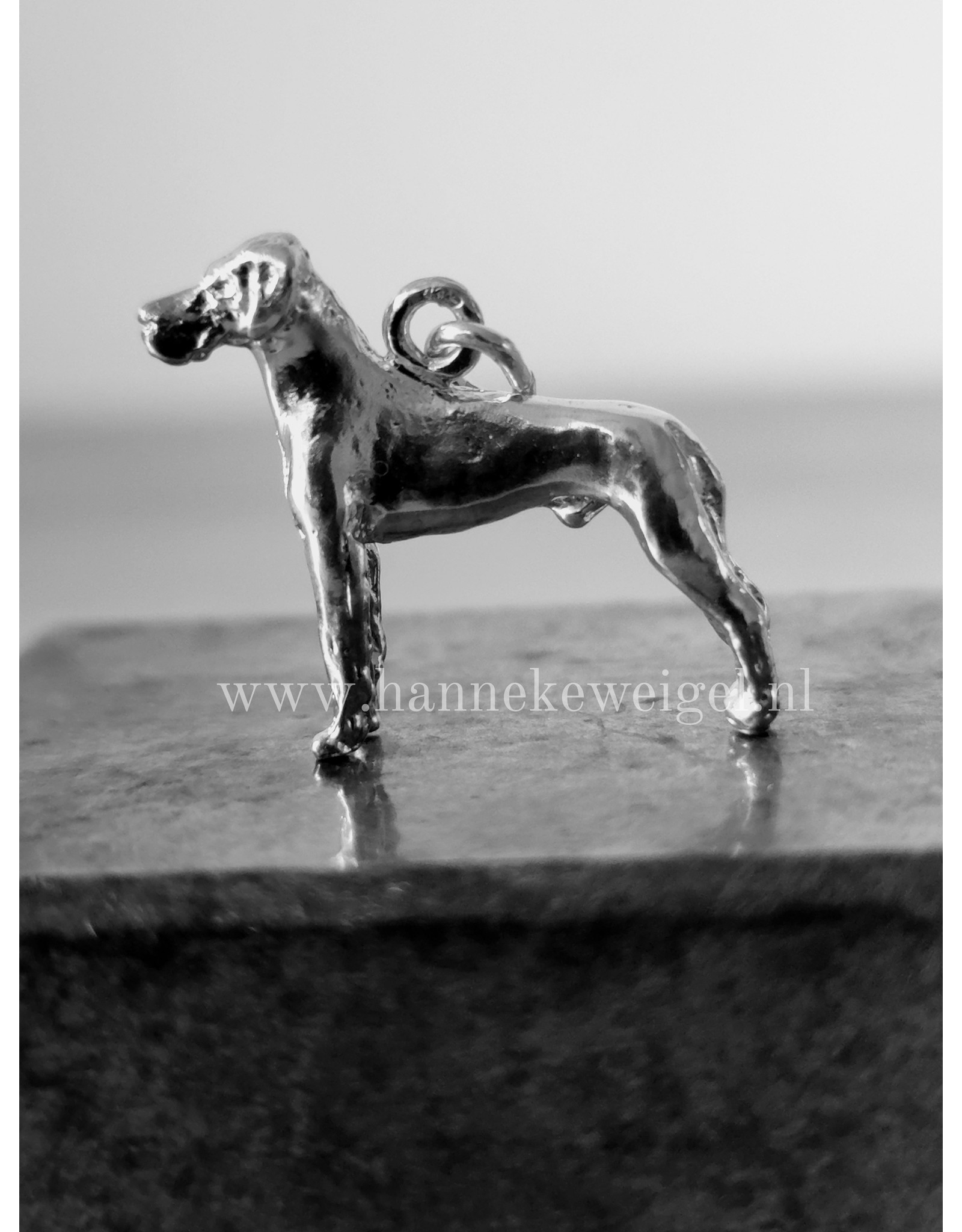 Handmade by Hanneke Weigel Zilveren Duitse dog