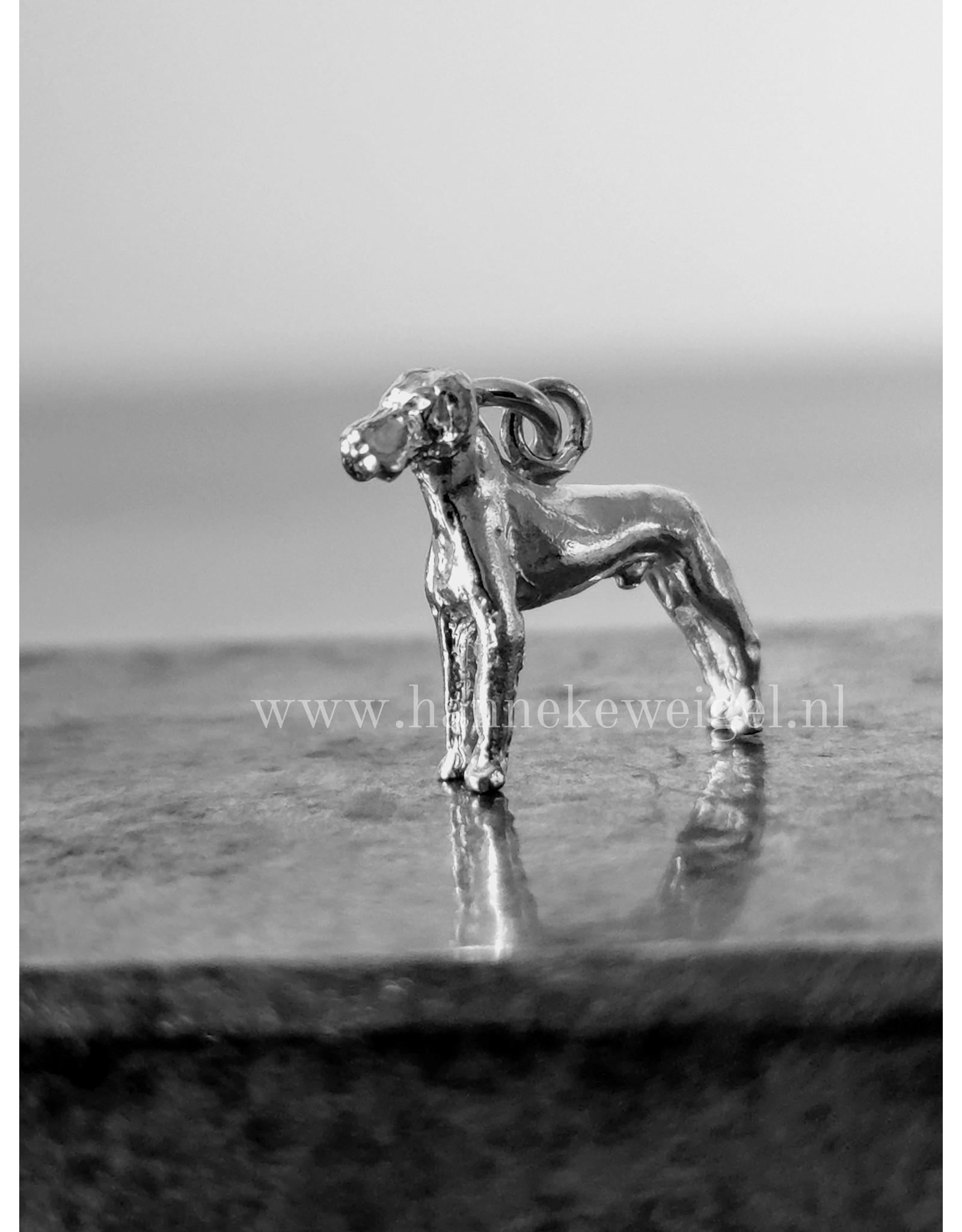 Handmade by Hanneke Weigel Sterling silver German great dane