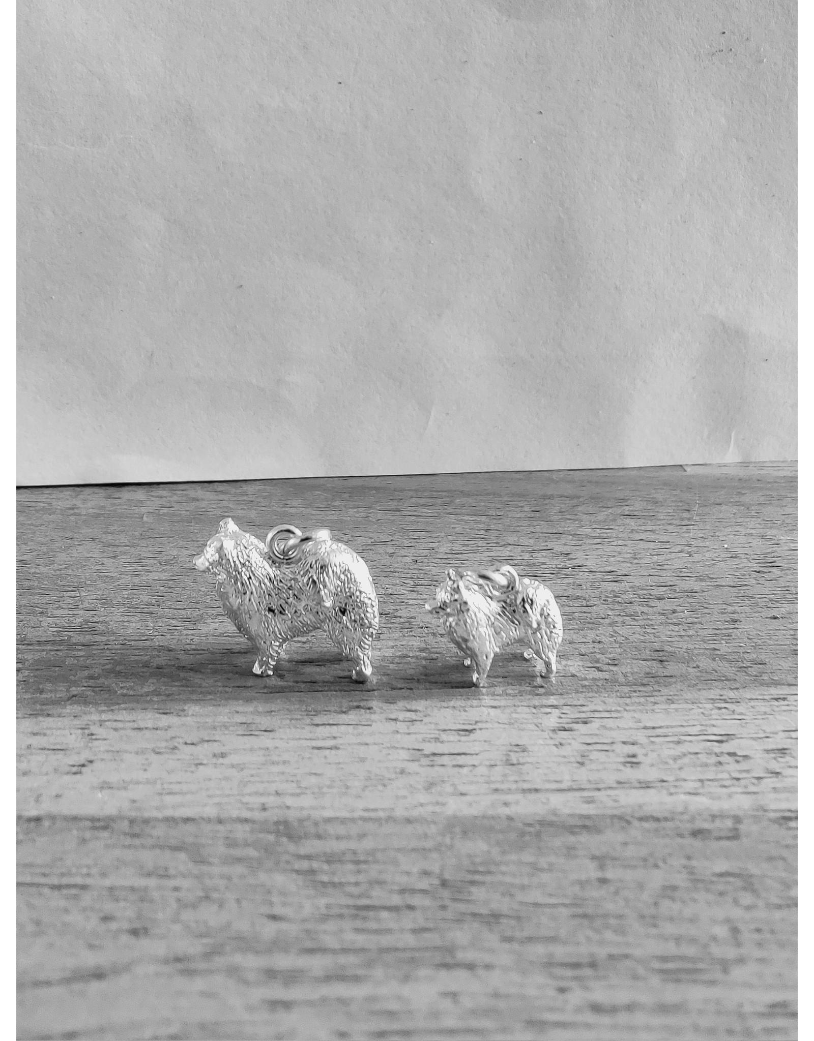 Handmade by Hanneke Weigel Zilveren Samojeed