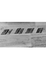 Handmade by Hanneke Weigel Keychain vintage engraving letter