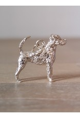 Handmade by Hanneke Weigel Sterling silver Parson jack russel terrier wirehaired